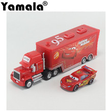 [Yamala] 2 pcs Cars 2 Diecast No.95 Mack Racer's Truck lightings Metal Toy Car For Children 1:55 Loose Brand New In Stock