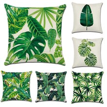 Tropical Rainforest Plants Printing Linen/Cotton Soft Sofa Bed Cushion Cover Nap Throw Pillow Case Decorbox Home Decor Supplies(China)
