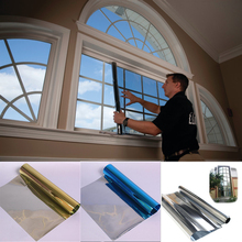 1Mx30cm One Way Solar Reflective Mirror Insulation Window Film Adhesive Privacy Opaque Glass Sticker Sunscreen Home Decor(China)