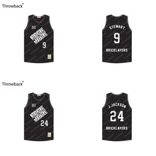 custom EJon Stewart 9 Jim Jackson 24 Bricklayers 3rd Annual Rock N' Jock B-Ball Jam Throwback Movie Basketball Jersey stitch(China)