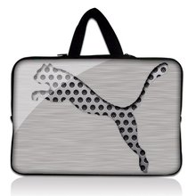 "14"" 14.1"" 14.4"" Silver Leopard Neoprene Soft Laptop Netbook Sleeve Bag Case Cover Pouch+Hide Handle For Apple Macbook Pro 15""(China)"
