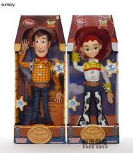 Toy Story 3 Talking Woody Jessie PVC Action Figure Collectible Model Toy Doll for kids best christmas gift