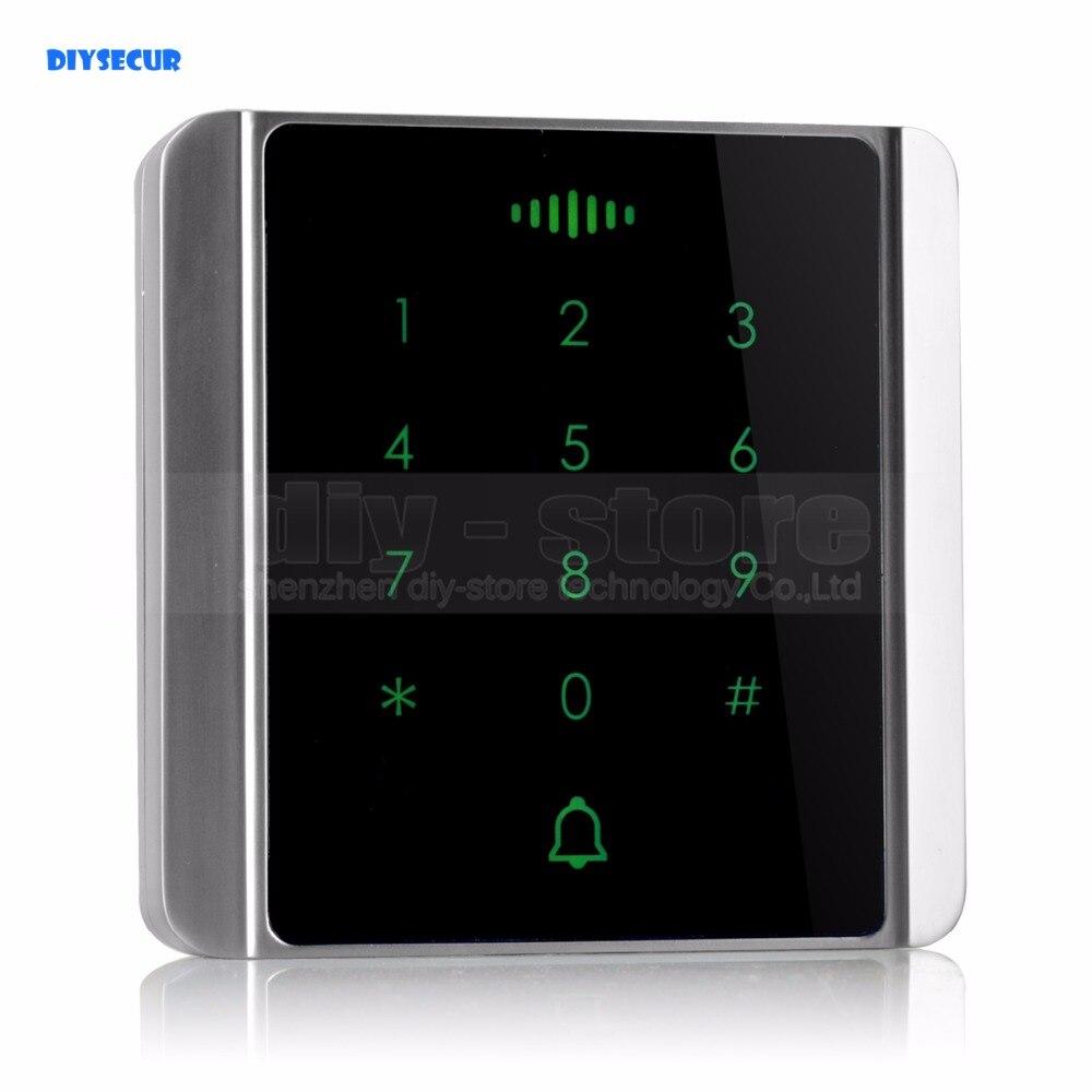 DIYSECUR 125KHz RFID Card Reader Touch Panel Backlight Password Keypad for Access Control System Kit C86<br>