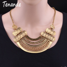 Tenande Vintage Ethnic Jewelry Bijoux Tribal Metal Coin Choker Necklaces & Pendants Gypsy Multilayer Chain Necklaces For Women(China)