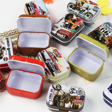 Best For You!! Cool Motorcycle Tin Storage Box 16Piece Exquiaite Packing Cajas Plastico Tea Box Jewelry Box Mac Makeup Cosmetic