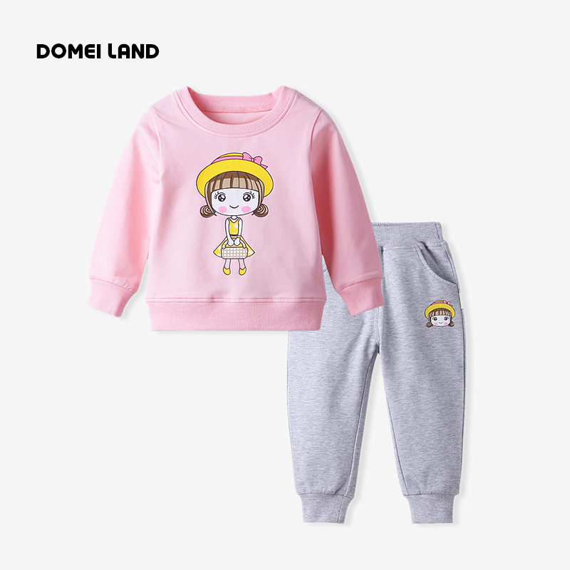 2017 Fashion winter baby brand clothing Outfits Sets Kids Girl Long Sleeve cute cartoon girl Shirt pant track suits clothes<br><br>Aliexpress