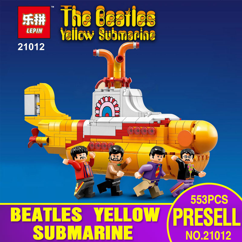 Lepin 21012 553Pcs IDEAS Series The Beatles Yellow Submarine Set 21306 Educational Building Blocks Bricks Children Toys Gifts<br><br>Aliexpress