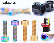 M5x16mm 18mm MTB titanium stem bolts anodized ti bolts bicycle brake rotor bolts colored titanium bolts(China)