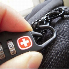 Number Lock 1Pcs Swiss Cross Symbol Combination Safe Code Mini Padlock for Luggage Zipper Bag Backpack Bag Suitcase Drawer(China)