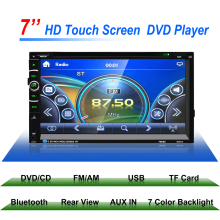 "2 Din 7"" GPS Navigation Support Front Car Stereo DVD Player and Rear View Camera Bluetooth/GPS/USB/SD/MP3/FM/AUX-IN/MP4 Player"