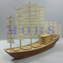 Chinese Ancient Classical Wooden Scale Model Ship SEVEN FANS Assembly Wooden Sailing Boat Model Scale Wooden Model Ship Kits(China)