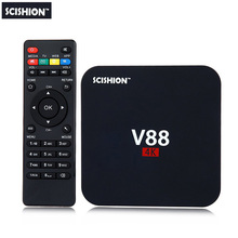 SCISHION V88 Android TV Box RK3229 Quad-Core CPU 1G+8G 4K movies WIFI 3D Movie smart media player Support 4 X USB SD Card Slot(China)