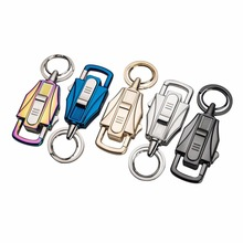 Automobile Key Ring Buckle Men Multifunctional Fashion Cigarette Lighter Key Pendant Tungsten Lighter Gift With Charging Cable(China)