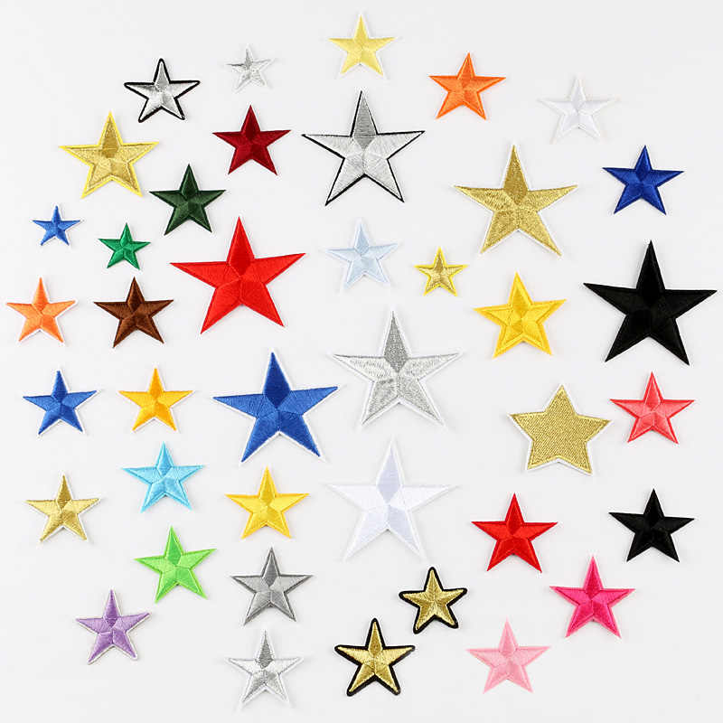 30 Style Colorful Star Military Embroidered Patches for Clothing Iron on Clothes  Applique Clothes Badge Stripe 124cb3c94e48