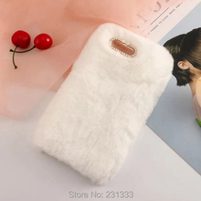 Buy Long Hair Rabbit Fur Furry Soft TPU Case Huawei Ascend P8 LITE Warm Diamond Bling Plush Cell Phone Fashion Skin Cover 1pcs for $5.58 in AliExpress store