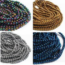 "Natural Stone Hematite Shamballa Beads 16"" Per Strand 4 6 8 10 mm Spacer Beads For Jewelry Making DIY Necklace Bracelet Chunky(China)"