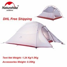 Ultralight Camp Tents with Mat 2 Person With Footprint Tent 20D Silicone or 210T Plaid Fabric Tent Double layer Camping Tent