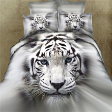 ROMORUS Tigers Forest 3D Oil Painting Designer Bedding Sets 4 pcs Duvet Cover Set 2017 Cool Bed Linen Sheets Cotton Wholesale