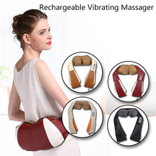 Four Function Buttons Electric Rechargeable Vibration Shawl Massage Body Kneading Massager for Women beauty Health Care device(China)