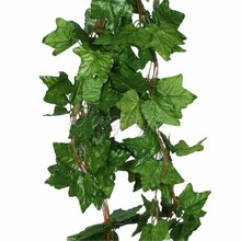 10PCS Big Sleaf Leaf Artificial Vine Garland Plants Ivy Vine Fake Plants Flowers Wedding Home Decor 7.5 feet  Artificial Ivy