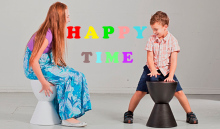 home changing shoes stool boy girl plastic stool red yellow bedroom storage stool free shipping