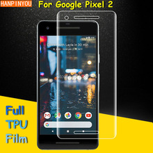 "Full Coverage Clear Soft TPU Film Screen Protector For Google Pixel 2 / pixel2 5.0"" , Cover Curved Parts (Not Tempered Glass)"