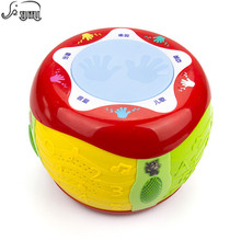 Baby Hand Drum Musical Instrument Toy SHUNHUI Kids Electronic Music Light Drum Sound Play Learning Educational Toys for Children(China)