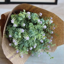 1PCS Mini Green Artificial Plant Eucalyptus Leaves Grass Bush Home Dinning Table Garden Decoration Fake Flowers