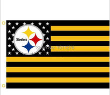 Pittsburgh Steelers NFL Premium Team Flag 3 x 5ft 100% polyester free shipping Qing Dao First Flag Manufacturer(China)