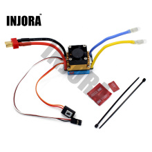INJORA RC Boat 480A Waterproof Brushed ESC Speed Controller with 5V/3A BEC for RC Boat Parts(China)