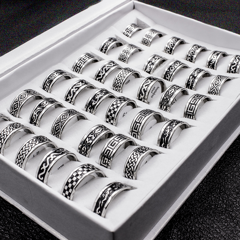 Vintage Style Unisex Stainless Steel Rings [ 100 piece lot ] 5