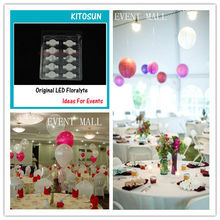 10pcs*12colors Led paper lanterns balloons floral lights for wedding party celebration home garden hanging lantern party lights