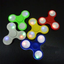 new product ideas LED light fidget spinner tri-spinner hand spinner with factory price