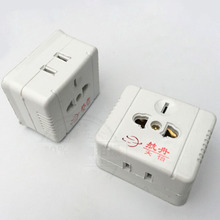 Small Surface Mounted Electrical Socket, Plastic Conversion Socket, Seven-hole Two-hole Three-hole Wall Outlet