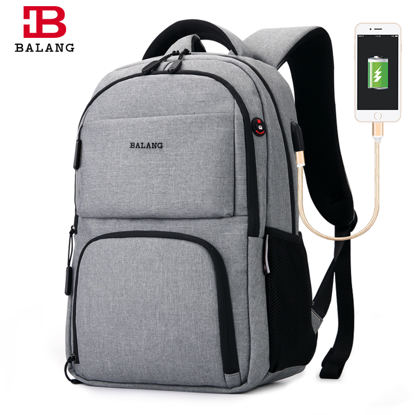 BALANG Brand 2018 Male College Backpacks for Teenage Boys Girls Mens Waterproof  Business Notebook Backpack Unisex Travel Bags<br>