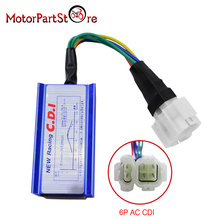 6 Pin 4+2 Pins Performance Racing AC CDI for GY6 50cc-150cc Moped Scooter ATV Go Kart Buggy Motorcycle Dirt Bike Engine Vehicles
