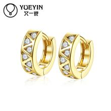 Female jewelry gold color earrings long earrings crystal zircon jewelry gift nausnice Jewelry supplier Romantic