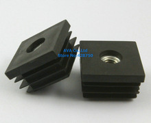 20 Pieces M8 Thread Nut 30mm Square Plastic Insert Cap Tube End Cover Cap(China)
