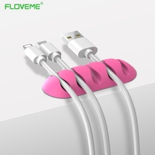 FLOVEME Cable Earphone Cable Organizer Wire Storage Silicone Charger Cable Holder Clips for MP3 ,MP4 ,Mouse,Earphone
