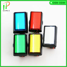 49mm*33mm 12v LED Illuminated Push Button with Microswitch for Arcade Music Game Machine(China)