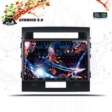 10,1 дюймов 1024*600 Android 8,0 Octa Core радио автомобиль стерео DVD gps для Toyota Land Cruiser 200 LC200 2008-2015 Map ленты Регистраторы(China)