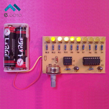 NE555+CD4017 10 Flash LED DIY Kits Flowing Water Light 10 Channel Lamp Suite Electronic Production Training Parts