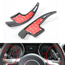 BBQ@FUKA Car Aluminum Wheel Steering Gear Shift Paddle Extensions Black/Red/Blue/Silver Cover For Ford Mustang 2015 2016