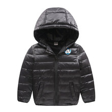 2017 Ultra Light Baby Girls Boys Kids Down Jacket Hoody Duck Down Coat Autumn Winter Warm Children Clothes School Bag Down Jack(China)