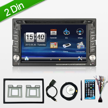 Steering wheel Auto 2din car dvd player Radio GPS PC Video Camera Monitor For VW universal RDS Blutooth digital tv (option) Cam(China)