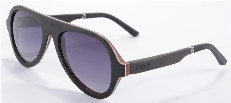 New Fashion Pilot Sunglasses Men Polarized Driving Glasses Luxury Ebony Wooden Sunglasses UV400 Protection Occhiali Da Sole 6068<br><br>Aliexpress