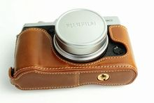 New High quality Black Brown Coffee Camera Bag Bottom Case Half Body Set For Fujifilm Fuji X30 X-30 PU Leather Bttery taken out