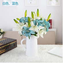 1pcs Real Touch Decorative Artificial Flower Calla Lily Artificial Flowers for Wedding Decoration Event Party Supplies E46
