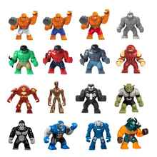 Big Blocks Single Sale Iron Man Red Hulk Groot Venom Buster Dogshank Killer Croc Super Heros Building Bricks Gift For Children
