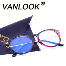 Women Computer Glasses Round Transparent Eyeglasses for Men Spectacle Frame Oculos De Grau Fashion Clear Lenses Anti Blue Ray(China)